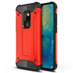 Military Defender Tough Shockproof Case for Huawei Mate 20 - Red
